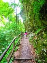 Easy scenic hike at Vintgar Gorge