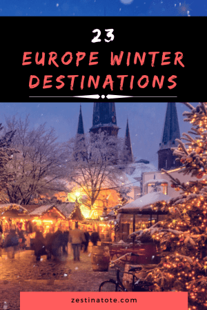 Thinking of a winter destination in Europe for a family vacation? Read for great ideas, from winter wonderland in Nordic countries, skiing or winter sports destinations, winter city breaks in Europe, winter sun destinations in Europe or some budget ideas in Eastern Europe. #europe #europewinterdestinations #europefamilyholidays