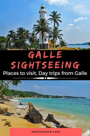 Galle is a beautiful port, a UNESCO Heritage site, a walled city on the south-west coast of Sri Lanka. Read more for the places to visit in Galle and interesting day trips to take. #srilanka #galle #colombotogalle #gallesightseeing #galletravelguide #thingstodoingalle