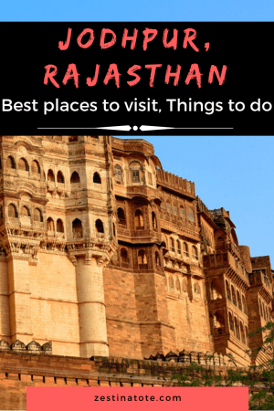 One of my favourite cities - Jodhpur with the majestic Mehrangarh Fort, other examples of architecture, spicy local food and friendly vibes - is a must-do on any itinerary to Rajasthan.Read for the best places in Jodhpur and what to do in Jodhpur. #india #rajasthan #jodhpur #whattodoinjodhpur #placestovisitinjodhpur #jodhpursightseeing