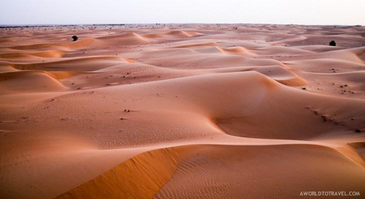 Flying over Dubai desert