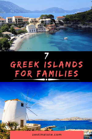 A family vacation to Greece would be unimaginable without visiting one or more of the islands. The choices are so many if you are looking for a slice of Mediterranean heaven. Read on for some of the best options of Greek islands for a family holiday. #greece #greekislands #familytravel #bestgreekislands