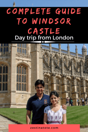 If you're visiting London, Windsor Castle is perfect for a quick day trip from London. The Old World charm of Windsor Castle will enchant you, whether you are a history buff or just are interested in one of the most impressive castles of British Royalty. #uk #windsorcastle #britishroyalty #britishcastles #daytripfromlondon