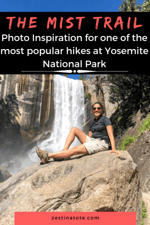 The Mist Trail to view Vernal Falls and Nevada Falls is one of the most popular hikes in Yosemite and for good reason.See this Photo Log for stunning views scattered all along this trek and close views of Vernal Falls. #usa #yosemitenationalpark #yosemitehikes #vernalsfalls #nevadafalls #misttrail