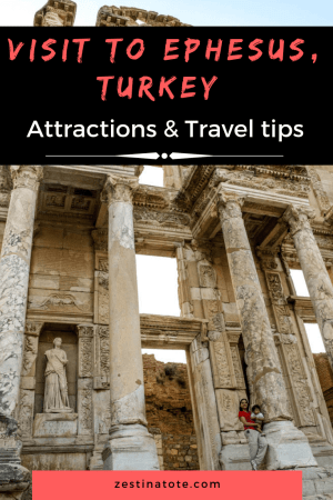 The ruins of Ephesus are a major tourist attraction in Turkey. Read my personal account of a family trip to this cultural attraction. #turkey #ephesustour #ephesusdaytrip #culturalattraction #traveltips