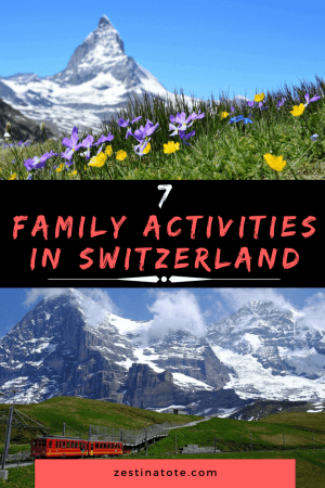 Switzerland is an excellent country to explore with the entire family. Read on for 7 memorable family experiences in this country. #switzerland #familytravel #switzerlandwithkids