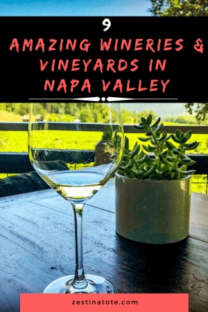 9 Wineries napa valley