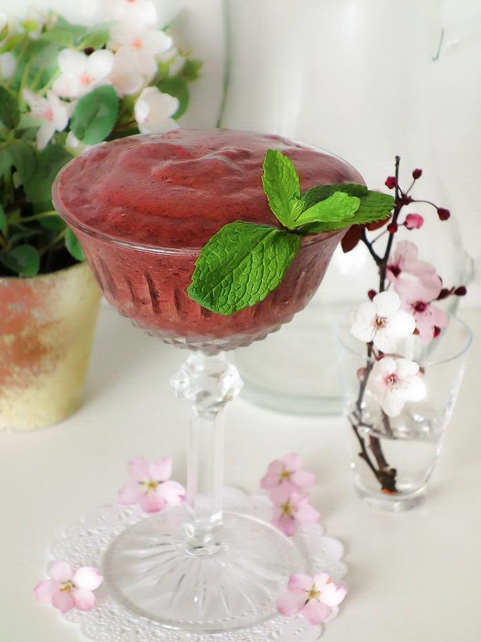 Cherry Blossom Smoothie (Dairy-Free, AIP) - Zesty Paleo