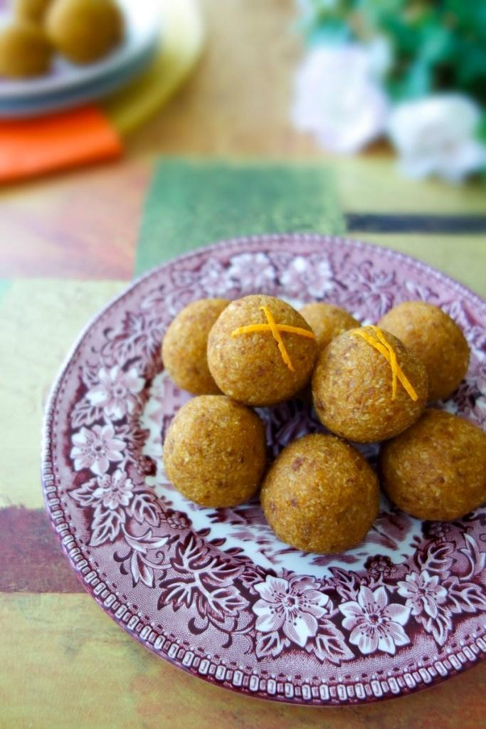 Orange Pumpkin Balls (Nut-Free, Vegan, AIP) - Zesty Paleo