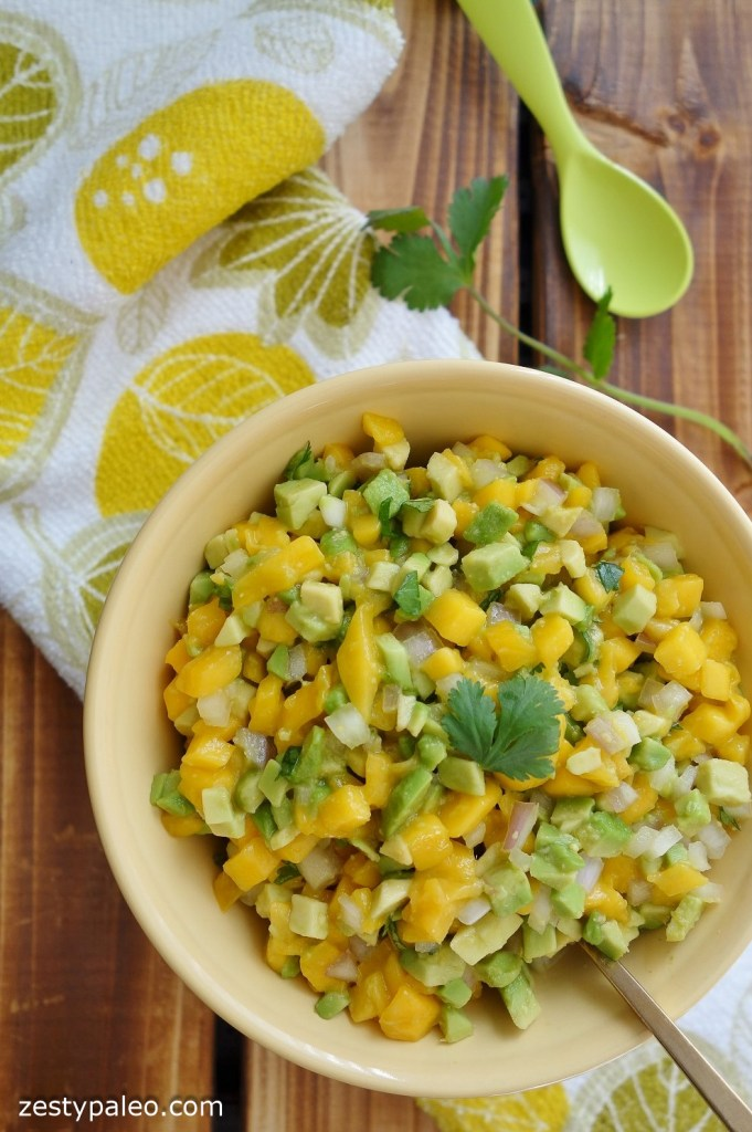 Avocado Mango Salsa (Nightshade-Free, AIP) - Zesty Paleo