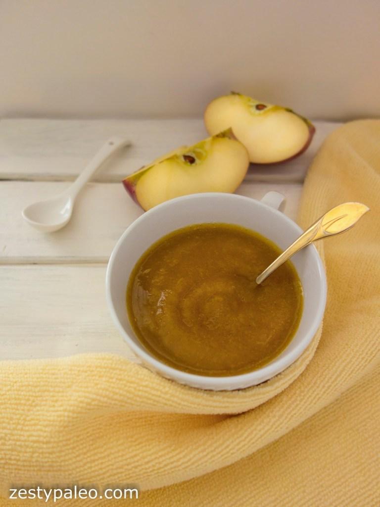 Cinnamon-Turmeric Applesauce (Vegan, Paleo, AIP)
