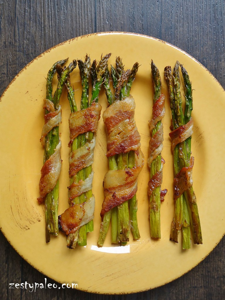 Bacon-Wrapped Asparagus Bundles (Nightshade-Free, AIP) - Zesty Paleo