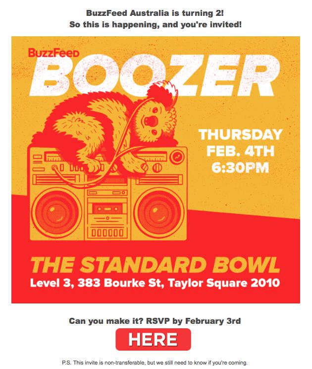 buzzfeed australia event invite