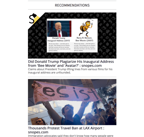 snopes personalized email content