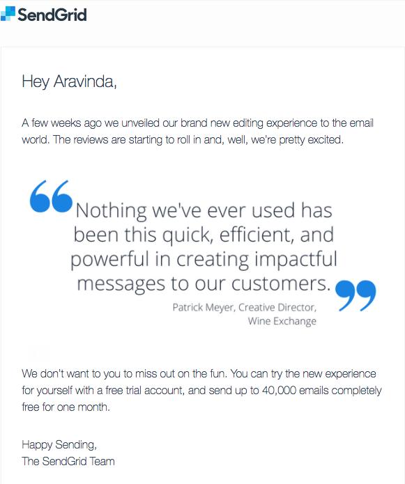 sendgrid email