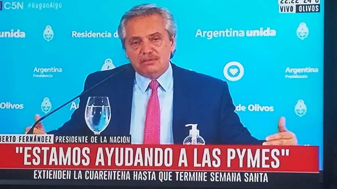 Lo confirmó el PresidenteLa cuarentena se extendió hasta después de Semana Santa