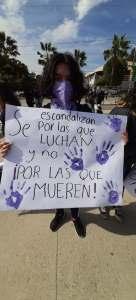 Manifestación 8M en Ensenada. Foto: Noemí Gutiérrez.