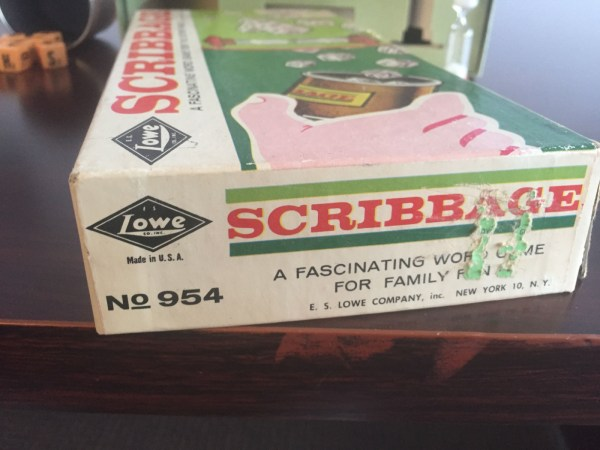Vintage 1963 SCRIBBAGE K.S. Lowe Co Inc Complete No 954 Great Condition Box Torn