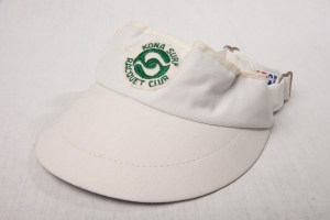 Vintage Women's Kona Surf Raquet Club Visor Hawaii Kona Surf Hotel Tennis Golf