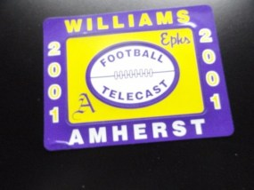 WILLIAMS EPHS VS AMHERST A FOOTBALL TELECAST 2001 Three Piece Maganet For Alumni