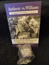 Amherst vs Williams 2000 Football Program  Yo Yo Williams Telecast 2000 College