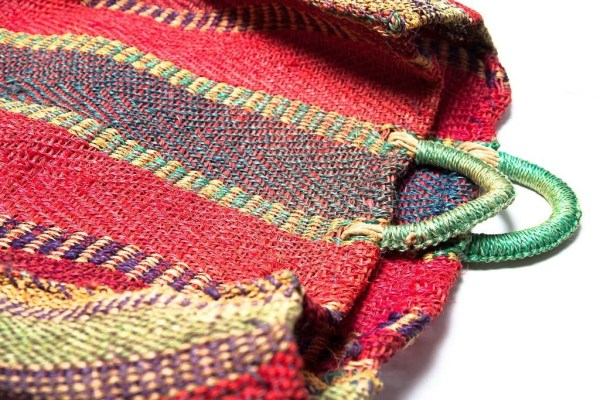 Vtg 70's Traditional Hand Woven Mexician Shopping Bag Agave Sisel Eco Friend