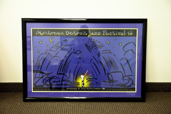 Detroit Montreux Jazz 1995 Ford Motor Company Double Matted Framed 42.5 x 28.5