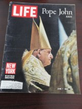 Vtg Life Magazine June 7, 1963 POPE JOHN XXIII New York EXTRA Section On Cover