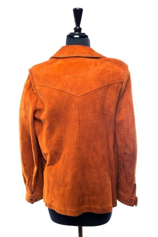 Vintage Women's Suede P. S. I. Burnt Orange Jacket Blazer Handmade L Ex Cond