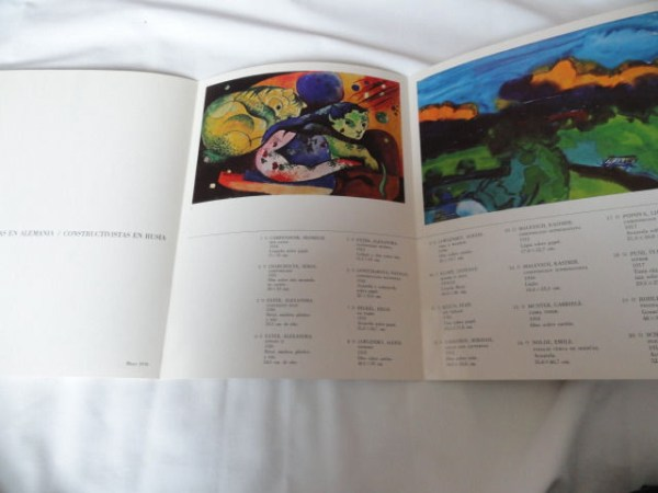 Art Book Catalog Expressionists En Alemania Brochure Vintage