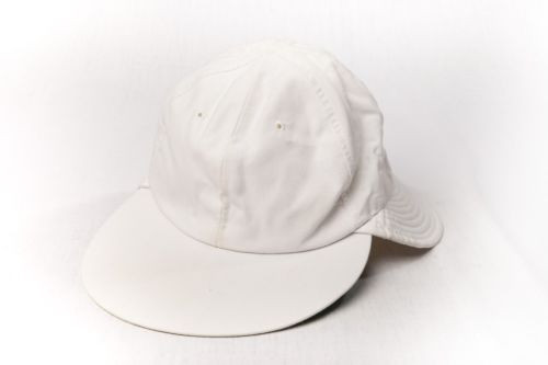 Unisex Solid White Flap Bucket Sun Protection Hat Preownd Great Condition Medium
