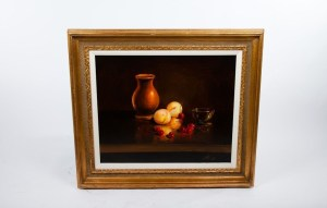 "Original EVA MAKK Oil Painting Untitled Still Life 1960's 20"" x 24"" Framed"