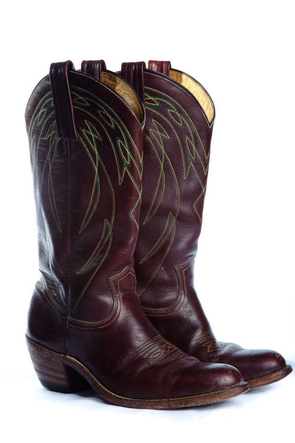 Vintage Men's FRYE Cowboy Boots Cordovan Leather #2329 Size 8.5  Pre Owned USA