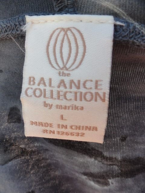 Women's The Balance Collection Yoga  Jacket Pullover Hood Blue Tye Dye L