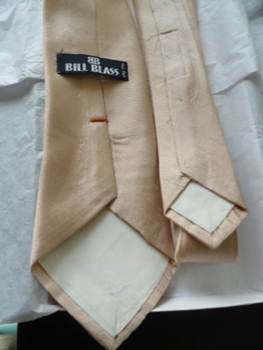 Vintage Men's Bill Blass Tie Light Peach All Silk NWOT