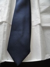 Vintage Men's GIVENCHY GENTLEMEN Tie Paris Navy Blue Imported 100% Polyester
