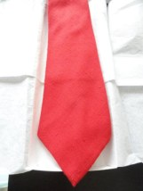 Vintage Men's Chess King Red Tie Linen NWOT