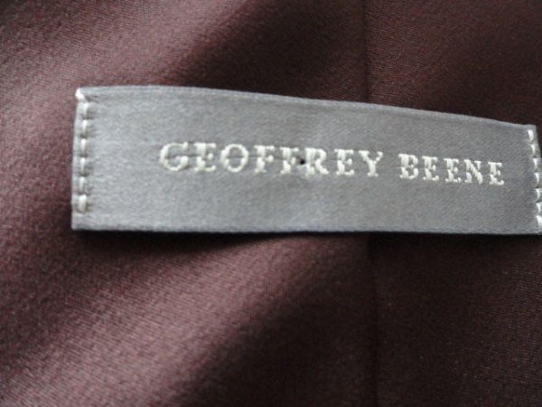 Vintage Men's Geoffey Beene Tie Deep Burgundy 100% Polyester Made In Italy NWOT
