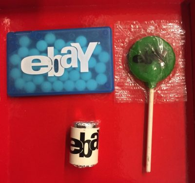 Ebay Live Chicago 2008 Candy Blue Mini Mints Green Lollypop Small Round Mints