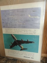 Vintage BOEING 707 You'll Enter Advertisement