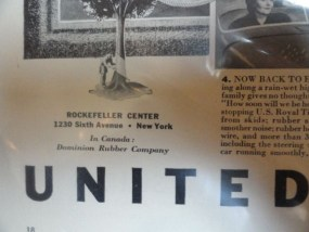 Vintage United States Rubber Company Advertisement