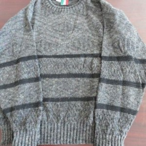Vtg Men's Designer Sweater COLORE COLLEZIONE PERTE Med. Italy Gray Muted Colors