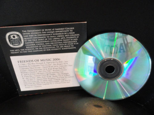 Amherst College Department Of Music CD 2006 Friends Of Music 15 Excerpts