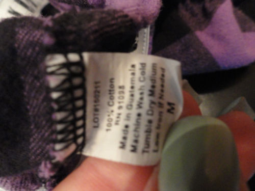 Amherst College Women's Plaid Boxer Shorts Roll Down AMHERST Boxcraft Used