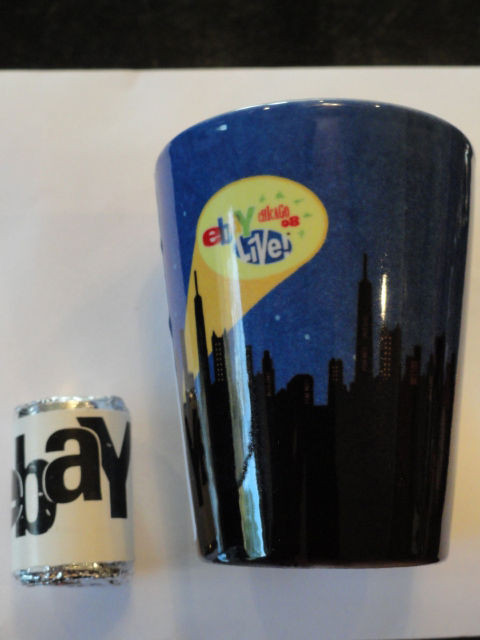 Ebay Live Chicago 2008 Heroes Cityscape Shot Glass 2 ins. NWT &  Ebay Mint Candy