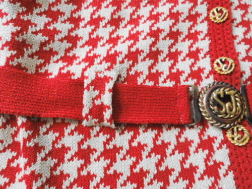 Vintage Saks Fifth Avenue St John Knit 1970's Original SJ Buttons Belt Excellent