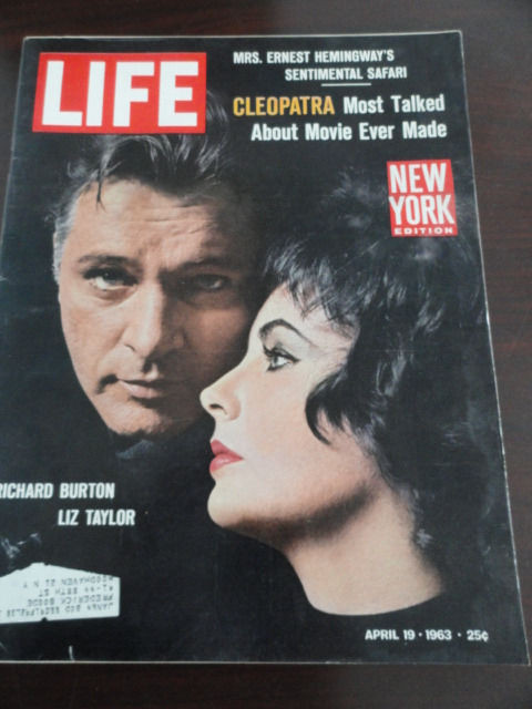 Vintage Life Magazine April 19, 1963 Liz Taylor Richard Burton On Cover