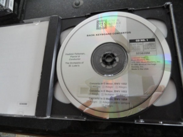 Vtg Musical Heritage Society Classical Bach Keyboard Concerts CD