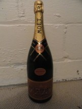 "MOET CHANDON BRUT ROSE  Dummy Display Wine Empty Glass Bottle 15.5"" Corked"