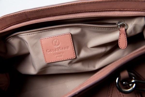 Women's Cole Haan Trinity Handbag Satchel Salmon Lite Pink Preowned Excellent